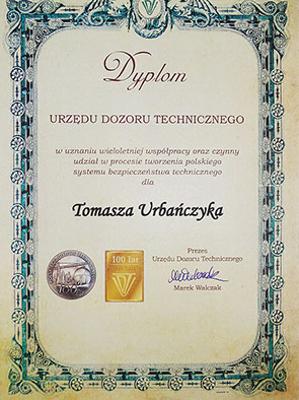 Dyplom UDT kamilsped